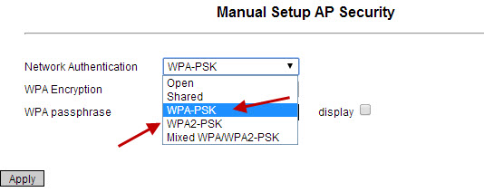 WPA on wireless router