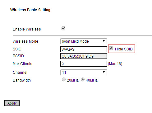 hide ssid on wireless router