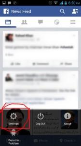 facebook logout setting