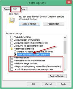 show hidden files folders windows 7