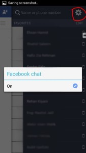 FB chat setting on android