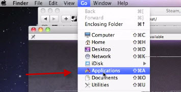 DMG file open from MAC application