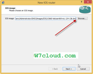 How to register ios image in gns3